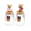 wholesale Pictures & Frames: Wholesale glass jar with bear cap decoration