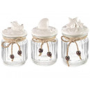 Wholesaler glass cap ceramic jar