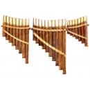 grossiste Instruments de musique: Panpipes ensemble de trois, bois, longueur: 26, 21