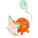 wholesale Pictures & Frames: Photo holder, sheet figure cat , height 9 cm