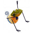 wholesale Pictures & Frames: Photo holder, sheet figure frog , height 12 cm
