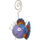 wholesale Pictures & Frames: Photo holder, sheet figure fish , height 15 cm