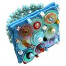 ingrosso Gioielli & Orologi: Ring  Pailette   Colore: turchese, formato flessibi