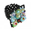 ingrosso Gioielli & Orologi: Ring  Pailette   colore: nero, taglia flessibilità