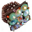 ingrosso Gioielli & Orologi: Ring  Pailette ,  colore: marrone, taglia flessibil