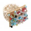 ingrosso Gioielli & Orologi: Ring  Pailette ,  colore: bianco, formato flessibil