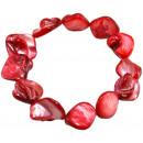 ingrosso Gioielli & Orologi: Braccialetto,  perla -Rosso-  Larghezza: 15 ...