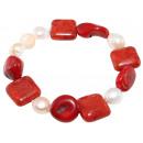 ingrosso Gioielli & Orologi: Madre Bracciale di  perle, coralli, Larghezza: 35 m