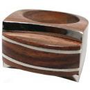 ingrosso Gioielli & Orologi: Anello  Lines  di legno e metallo Sono