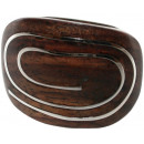 ingrosso Gioielli & Orologi: Ring  spirale  in legno e metallo Sono