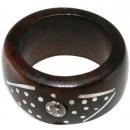 ingrosso Gioielli & Orologi: Anello in legno e metallo Sono zircone
