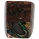 Anello da Sono in legno, metallo e Paua Shell
