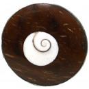 ingrosso Gioielli & Orologi: Anello, acciaio  inossidabile, Shiva occhio, legno