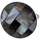 ingrosso Gioielli & Orologi: Anello in acciaio  con madreperla, formato libero