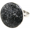 ingrosso Gioielli & Orologi: Anello in acciaio  inox, nero / bianco, dimensioni