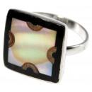 ingrosso Gioielli & Orologi: Anello in acciaio  inox, madre di perla di disegno,