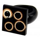 ingrosso Gioielli & Orologi: Anello in resina  con dimensioni bambù filtrate