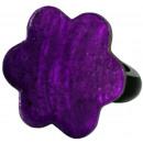 ingrosso Gioielli & Orologi: Anello in resina,  di madreperla  Purple , Ø 32 mil