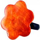 ingrosso Gioielli & Orologi: Anello in resina,  di madreperla  Orange , Ø 32 mil