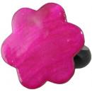 ingrosso Gioielli & Orologi: Anello in resina,  di madreperla  Pink , Ø 32 milli