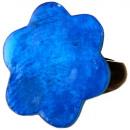 ingrosso Gioielli & Orologi: Anello in resina,  di madreperla  Blue , Ø 32 milli