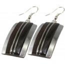 grossiste Boucles d'oreilles: Ohrringpaar sono bois, en acier inoxydable bande