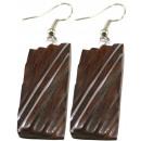 groothandel Sieraden & horloges: Paar oorbellen,  sono hout,  roestvrij staal, ...