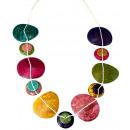 Großhandel Schmuck & Uhren: Halskette Kokosholz, bunt, Länge verstellbar