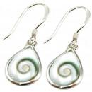 wholesale Rings: Pair of earrings silver, shivaeye 10 x 8 mm, drop