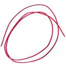 Großhandel Zubehör & Ersatzteile: Lederriemen 100 cm, Ø 2 mm, rot