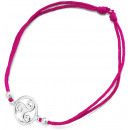 wholesale Jewelry & Watches: Bracelet Triskele , 925 silver and fabric, ...