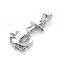 wholesale Pendant: Chain anchor , 925 silver, length: about 21 mm