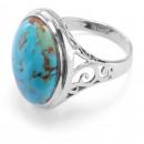 groothandel Sieraden & horloges: Zilveren ring met turkoois Arizona