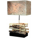 Lamp, wood, approximately 50 cm high