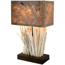 Lampa, drewno, około 50 cm wysokości
