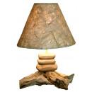 Lamp op teak, 3
