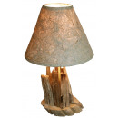 Lamp op teak wortel m. Houten standaard, 50 cm