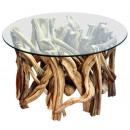 Stół z szklanym blatem lian