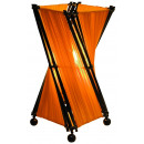 Lamp, wood with fabric, height. 30 cm, orange