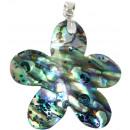 Ciondolo d'argento, Paua Shell, Lunghezza: 40