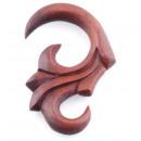 Großhandel Piercing / Tattoo: Expander Tribal aus Sawo Holz, Ø 4 mm