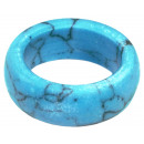 Sorted ring of turquoise in different sizes