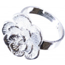 wholesale Jewelry & Watches: Ring Flower Ø 17 mm, flexible size