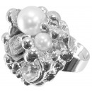 wholesale Jewelry & Watches: Ring Pearl, Rose and Crystal , flexible size