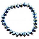 groothandel Sieraden & horloges: Glitter armband, donker turquoise