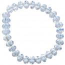 Glitter armband, saffier blauw