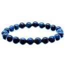 Bracelet made of blue gray tiger eye, each Ø 8 mm