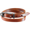wholesale Belts: Wrap bracelet with strap closure, light brown