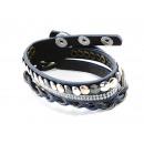 grossiste Bijoux & Montres:Bracelet, cuir, bleu