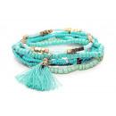groothandel Sieraden & horloges: Armband, set van 3, kleur: turquoise